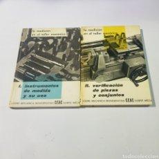 Libros de segunda mano: LA MEDICION EN EL TALLER MECANICO - 2 TOMOS - TDK121. Lote 222285807