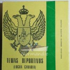 Libros de segunda mano: TEMAS DEPORTIVOS. LUCHA CANARIA. JUAN JERÓNIMO PÉREZ. 1968.. Lote 222296406