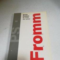 Libros de segunda mano: ERICH FROMM. EL ARTE DE AMAR. 12ª REIMPRESION. 1991. EDITORIAL PAIDOS.. Lote 222307206