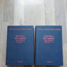 Libros de segunda mano: EL CAPITAL. KARL MARX. 2 VOLÚMENES. GRIJALBO, 1976.. Lote 222325021