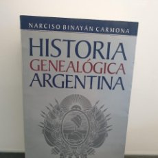 Libros de segunda mano: HISTORIA GENEALÓGICA ARGENTINA. NARCISO BINAYÁN CARMONA. 1999 EMECÉ. (ENVÍO 4,31€). Lote 222391992