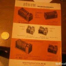Libros de segunda mano: LIBRO SUNUM, NUMERADORES, MATIGRAFICA S:E (BARCELONA). Lote 222420102