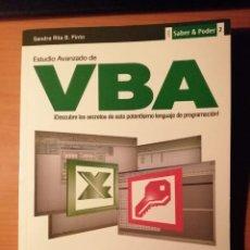 Livros em segunda mão: ESTUDIO ANVANZADO DE VBA. PROGRAMACIÓN PARA EXCEL Y ACCESS. Lote 222467073