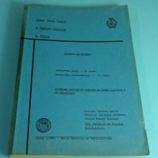 Libros de segunda mano: MECÁNICA DE FLUÍDOS. EXAMENES PROPUESTOS CURSO 1979 -80 Y SU RESOLUCIÓN. CABRERA / MARTÍNEZ / ESPERT. Lote 222579778