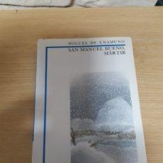 Libros de segunda mano: MIGUEL DE UNAMUNO - SAN MANUEL BUENO MARTIR - ANAYA. Lote 222645741