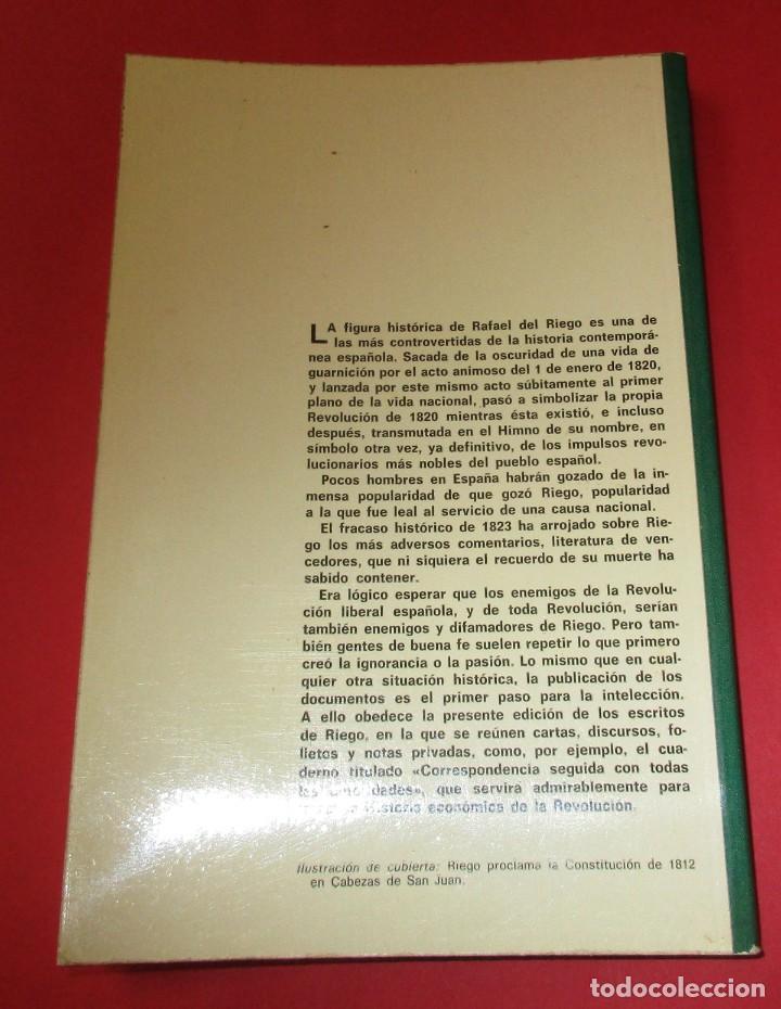 Libros de segunda mano: LA REVOLUCIÓN DE 1820, DÍA A DÍA. RAFAEL DEL RIEGO. ED. TECNOS 1976. 229 PÁGINAS. - Foto 2 - 222647123
