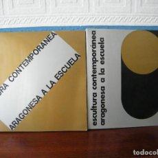 Libros de segunda mano: PINTURA Y ESCULTURA CONTEMPORÁNEA ARAGONESA A LA ESCUELA - COORDINACIÓN: MANUEL VAL. Lote 222663933
