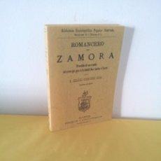 Libros de segunda mano: D. CESAREO FERNANDEZ DURO - ROMANCERO DE ZAMORA - EDICION FACSIMIL 2001. Lote 222679098