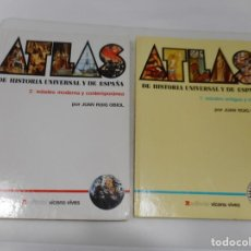 Libros de segunda mano: JUAN ROIG OBIOL ATLAS DE HISTORIA UNIVERSAL Y DE ESPAÑA ( 2 TOMOS) Q3407T. Lote 222786120