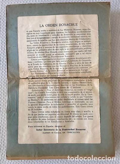Libros de segunda mano: Heindel, Max. Filosofía Rosacruz en preguntas y respuestas. [1941]. LEER DESCRIPCION - Foto 3 - 222800930
