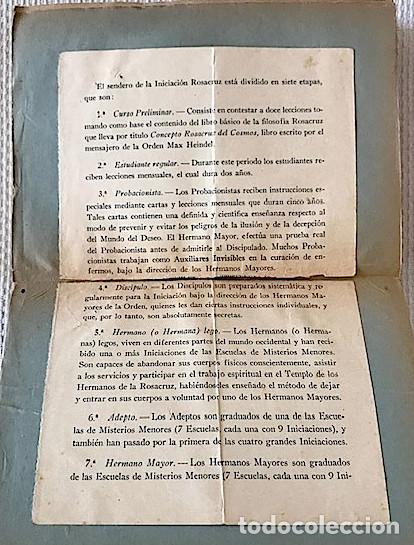 Libros de segunda mano: Heindel, Max. Filosofía Rosacruz en preguntas y respuestas. [1941]. LEER DESCRIPCION - Foto 4 - 222800930