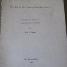 Libros de segunda mano: TRES CARTAS DEL DOCTOR GONZÁLEZ LANUZA. Lote 222833631