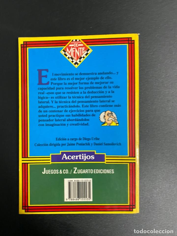 Libros de segunda mano: PRÁCTICA DE PENSAMIENTO LATERAL. PAUL SLOANE-DES MACHALE.ZUGARTO EDICIONES. MADRID, 1997.PAGS:129 - Foto 5 - 222842375