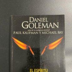 Libros de segunda mano: EL ESPIRITU CREATIVO. DANIEL GOLEMAN. VERGARA EDITORES. BARCELONA, 2000. PAGS:215. Lote 222843661