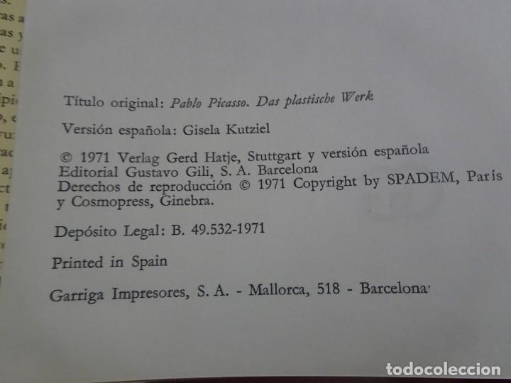 Libros de segunda mano: ESCULTURAS DE PICASSO – OBRA COMPLETA - W. SPIES - 1ª EDICIÓN 1971, GUSTAVO GILI , VER FOTOS - Foto 4 - 223219790