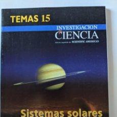 Livros em segunda mão: INVESTIGACION Y CIENCIA - TEMAS 8, 9, 10, 12, 15, 20 - SCIENTIFIC AMERICAN. Lote 223238613