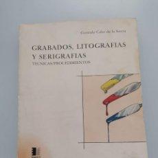 Libros de segunda mano: GRABADOS, LITOGRAFÍAS Y SERIGRAFÍAS. Lote 223293482