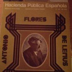 Libros de segunda mano: ANTONIO FLORES DE LEMUS. Lote 223296615