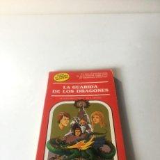 Libros de segunda mano: LA GUARIDA DE LOS DRAGONES. ELIGE TU PROPIA AVENTURA, TIMUN MAS Nº 20, LIBRO JUEGO, ROL, JUGUETE,EGB. Lote 223483298