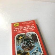 Libros de segunda mano: SUPERVIVENCIA EN LA MONTAÑA. ELIGE TU PROPIA AVENTURA, TIMUN MAS Nº 18, LIBRO JUEGO, ROL, JUGUETE. Lote 223484888