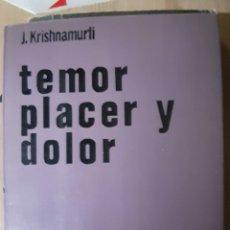 Libros de segunda mano: TEMOR PLACER Y DOLOR. Lote 223526845