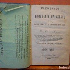 Libri di seconda mano: ELEMENTOS DE GEOGRAFÍA UNIVERSAL. D. MARIANO MAYMÓ. TERCERA EDICIÓN CORREGIDA Y AUMENTADA.. Lote 223584423