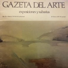 Livros em segunda mão: GAZETA DEL ARTE. EXPOSICIONES Y SUBASTAS. AÑO III. NÚMERO 38. FEBRERO 1975. GRANDIO: DE LA PINTURA. Lote 223591686