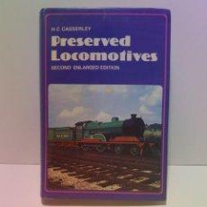 Libros de segunda mano: FENOMENAL LOCOMOTORAS CONSERVADAS EN MUSEOS AÑOS 60´S. Lote 223873453