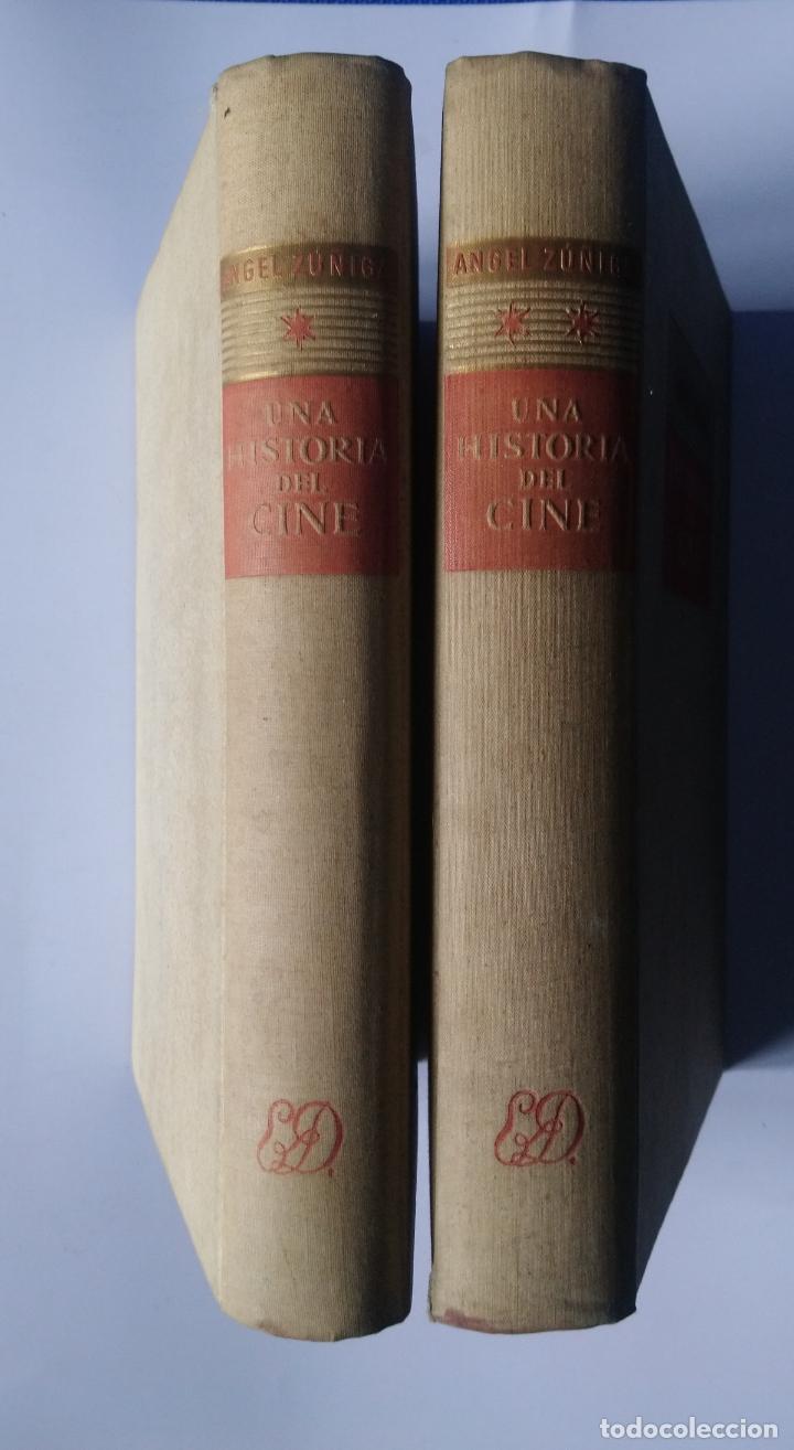 UNA HISTORIA DEL CINE – 2 TOMOS - ÁNGEL ZÚÑIGA – DESTINO, 1948 – 1ª EDICIÓN (Libros de Segunda Mano - Ciencias, Manuales y Oficios - Otros)