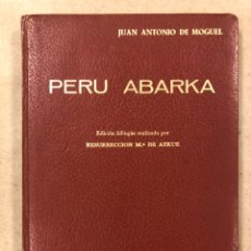 Libros de segunda mano: PERU ABARKA. RESURRECCIÓN MARÍA DE AZKUE. EDITORIAL LA GRAN ENCICLOPEDIA VASCA 1970.. Lote 224085245