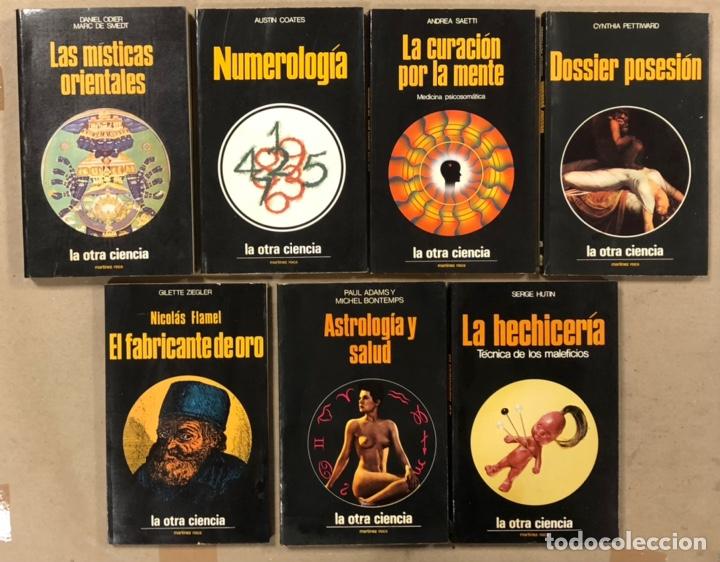 LOTE DE 7 LIBROS COLECCIÓN LA OTRA CIENCIA. EDICIONES MARTÍNEZ ROCA. (Libros de Segunda Mano - Parapsicología y Esoterismo - Otros)