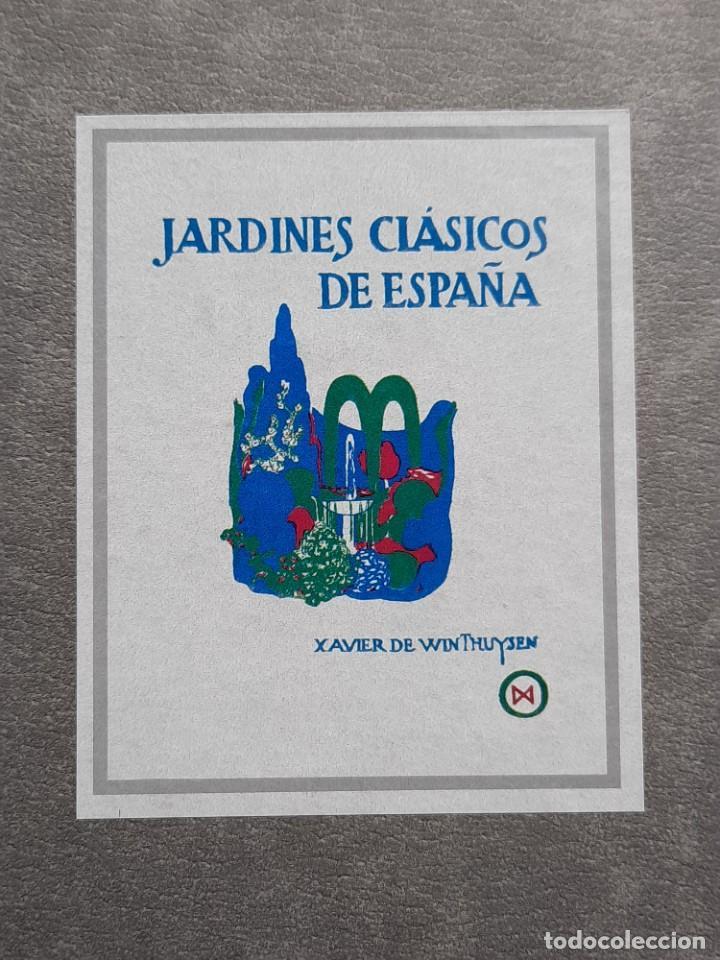 FACSIMIL JARDINES CLÁSICOS DE ESPAÑA CASTILLA XAVIER DE WINTHUYSEN 1990.PARDES COLECCIÓN JARDINERÍA (Libros de Segunda Mano - Bellas artes, ocio y coleccionismo - Otros)