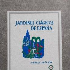 Libros de segunda mano: FACSIMIL JARDINES CLÁSICOS DE ESPAÑA CASTILLA XAVIER DE WINTHUYSEN 1990.PARDES COLECCIÓN JARDINERÍA. Lote 224285545