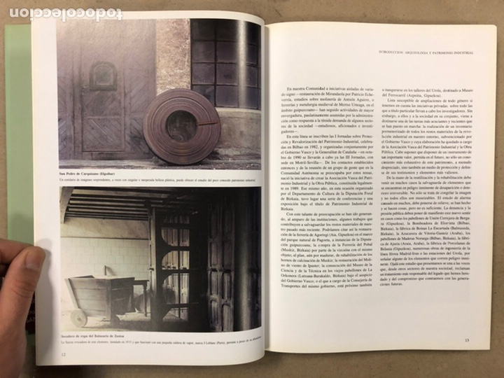 Libros de segunda mano: ARQUEOLOGÍA INDUSTRIAL EN GIPUZKOA. VV.AA. EDITA: GOBIERNO VASCO - UNIVERSIDAD DEUSTO - AGFA 1990 - Foto 7 - 224294672