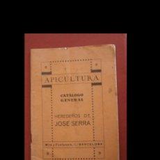 Libri di seconda mano: APICULTURA. CATÁLOGO GENERAL. HEREDEROS DE JOSÉ SERRA.. Lote 224356158