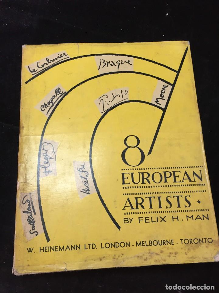8 EUROPEAN ARTISTS BRAQUE, CHAGALL, LEGER, LE CORBUSIER, MATISSE, MOORE, PICASSO AND SUTHERLAND 1954 (Libros de Segunda Mano - Bellas artes, ocio y coleccionismo - Otros)