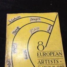 Libros de segunda mano: 8 EUROPEAN ARTISTS BRAQUE, CHAGALL, LEGER, LE CORBUSIER, MATISSE, MOORE, PICASSO AND SUTHERLAND 1954. Lote 224509106