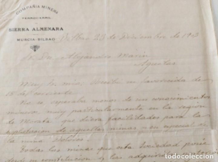 Libros de segunda mano: MINERIA MURCIA. COMPAÑIA MINERA Y FERROCARRIL DE SIERRA ALMENARA. MINAS MORATA. ALEJ. MARIN. 1903 - Foto 2 - 224574468