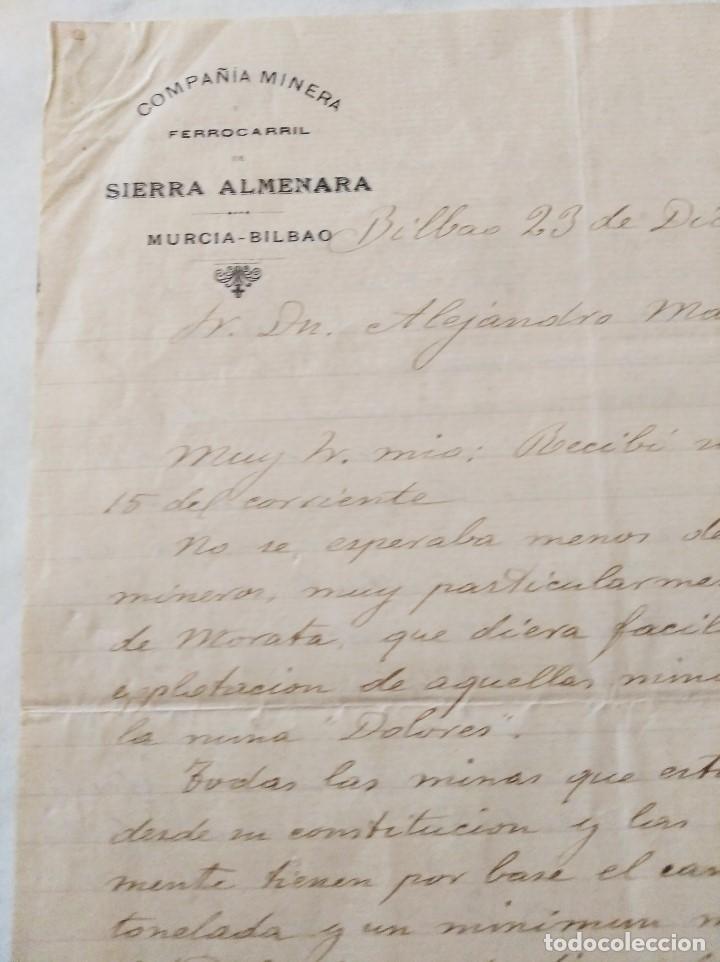 Libros de segunda mano: MINERIA MURCIA. COMPAÑIA MINERA Y FERROCARRIL DE SIERRA ALMENARA. MINAS MORATA. ALEJ. MARIN. 1903 - Foto 3 - 224574468