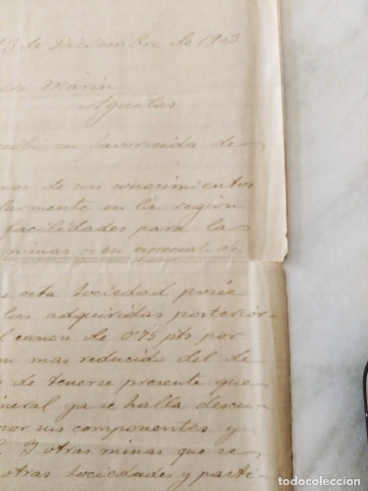 Libros de segunda mano: MINERIA MURCIA. COMPAÑIA MINERA Y FERROCARRIL DE SIERRA ALMENARA. MINAS MORATA. ALEJ. MARIN. 1903 - Foto 4 - 224574468