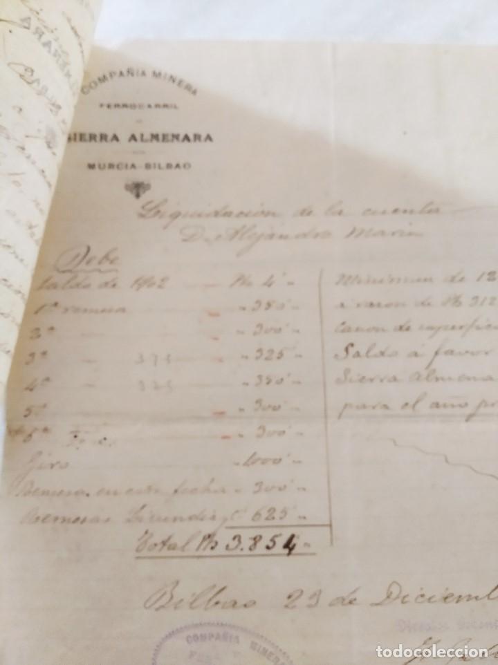 Libros de segunda mano: MINERIA MURCIA. COMPAÑIA MINERA Y FERROCARRIL DE SIERRA ALMENARA. MINAS MORATA. ALEJ. MARIN. 1903 - Foto 6 - 224574468