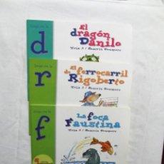 Libros de segunda mano: EL DRAGON DANILO , EL FERROCARRIL DE RIGOBERTO Y LA FOCA FAUSTINA COLECCION EL ZOO DE LAS LETRAS. Lote 224614438