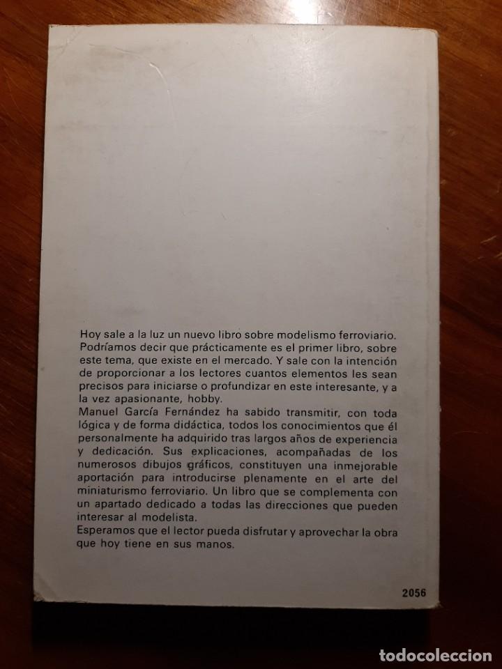 Libros de segunda mano: MODELISMO FERROVIARIO. EDITORIAL DE VECCHI. MANUEL GARCIA FERNANDEZ 1980 - Foto 2 - 224627916