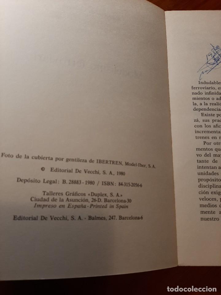 Libros de segunda mano: MODELISMO FERROVIARIO. EDITORIAL DE VECCHI. MANUEL GARCIA FERNANDEZ 1980 - Foto 8 - 224627916