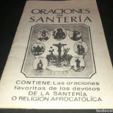 Libros de segunda mano: ORACIONES DE SANTERÍA. Lote 224633446
