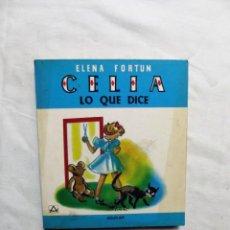 Libros de segunda mano: CELIA LO QUE DICE DE ELENA FORTUN. Lote 224646085