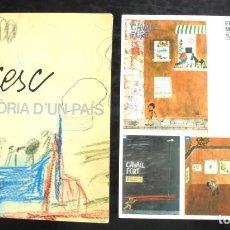 Livros em segunda mão: CESC, UNA HISTÒRIA D'UN PAÍS 1986 CATÀLEG EXPOSICIÓ FUNDACIÓ CAIXA DE BARCELONA + DESPLEGABLE. Lote 224655546