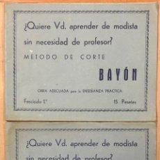 Libros de segunda mano: MÉTODO DE CORTE BAYÓN (FASCÍCULO 1º Y 2º).. Lote 224727808