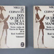 Libros de segunda mano: DON QUIJOTE DE LA MANCHA. MARTIN DE RIQUER. 1971. EDITORIAL JUVENTUD -DOS TOMOS. COLECC. Z Nº 4 Y 5. Lote 224733835