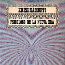 Libros de segunda mano: ROBERT LINSSEN : KRISHNAMURTI PSICÓLOGO DE LA NUEVA ERA (DIANA, MÉXICO, 1975). Lote 224946705
